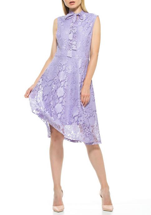 Alexia Admor Womens Luna Lace Midi Dress