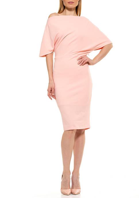 Alexia Admor Olivia Draped Sheath Dress