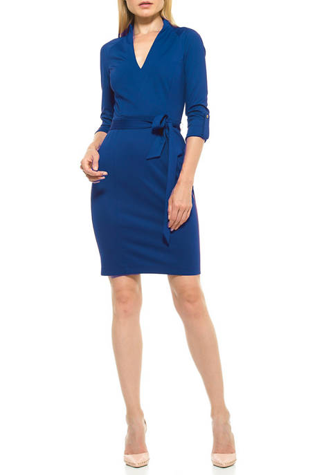Alexia Admor Womens Belted Dress
