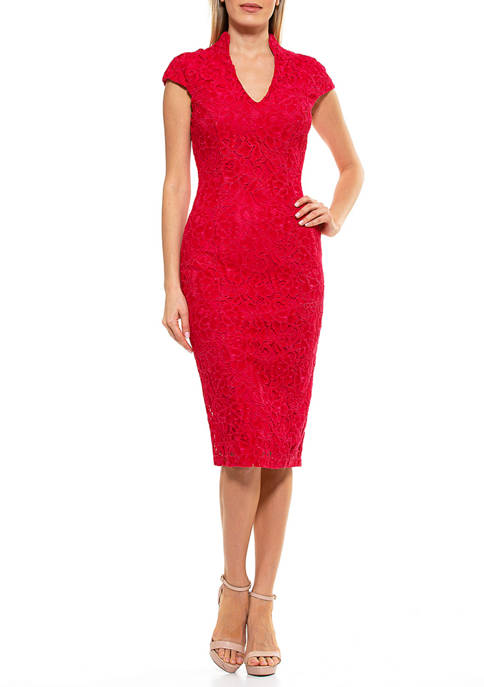 Alexia Admor Womens Kenall Lace Dress