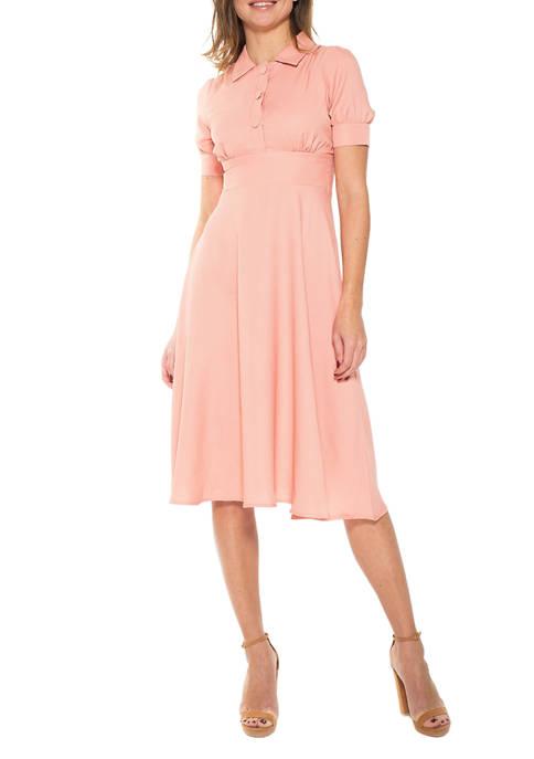 Alexia Admor Womens Emery Cap Sleeve Dress