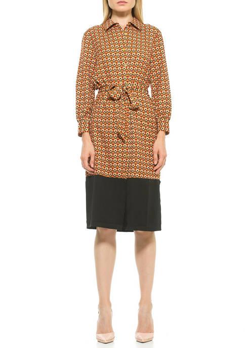 Alexia Admor Womens Sam Midi Dress