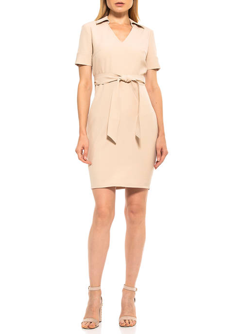Alexia Admor Womens Dianne V-Neck Dress