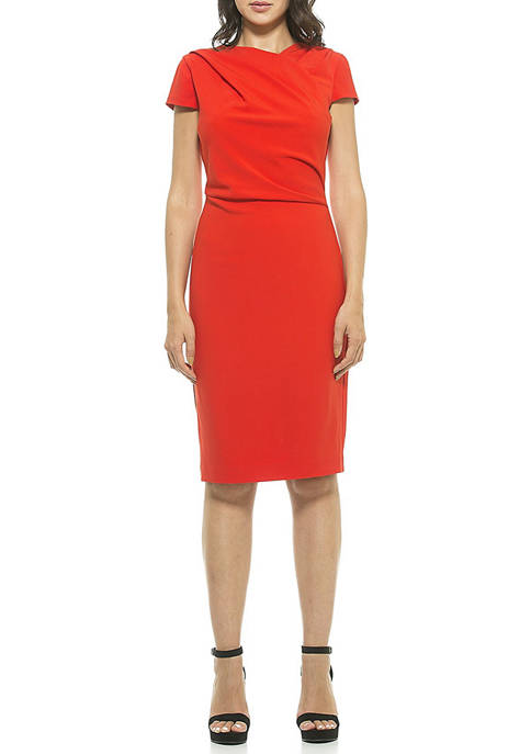 Alexia Admor Womens Ester Asymmetric Dress