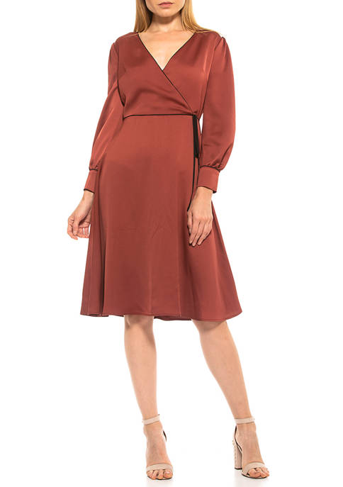 Alexia Admor Womens Torri Wrap Dress