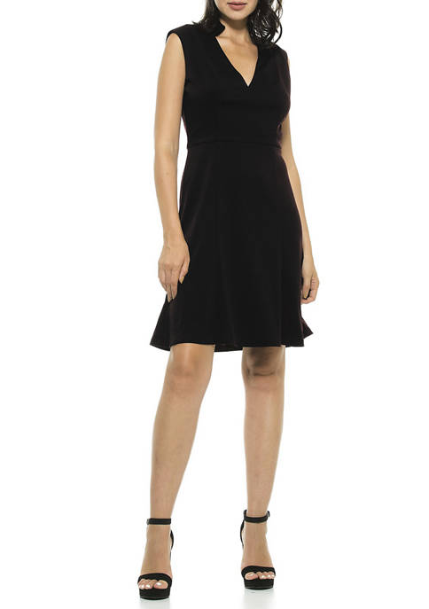 Womens Adelyn Split Neck Dress