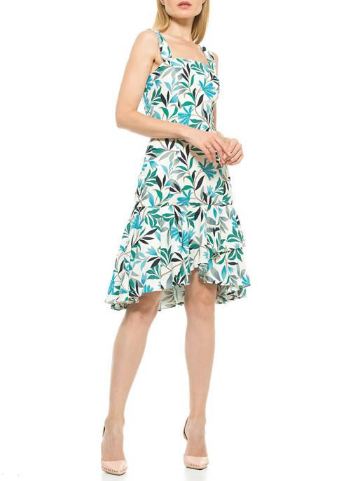 Alexia Admor Womens Adriana Flounce Dress