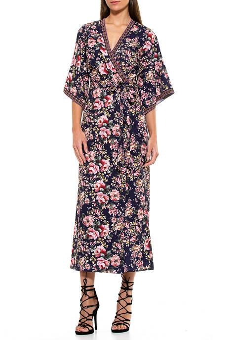 Alexia Admor Womens Kaylee Kimono Dress