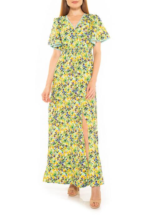 Womens Gianna Flutter Maxi Dress