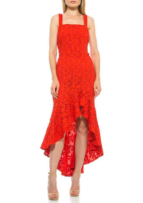Alexia Admor Womens Sylvana Lace Dress