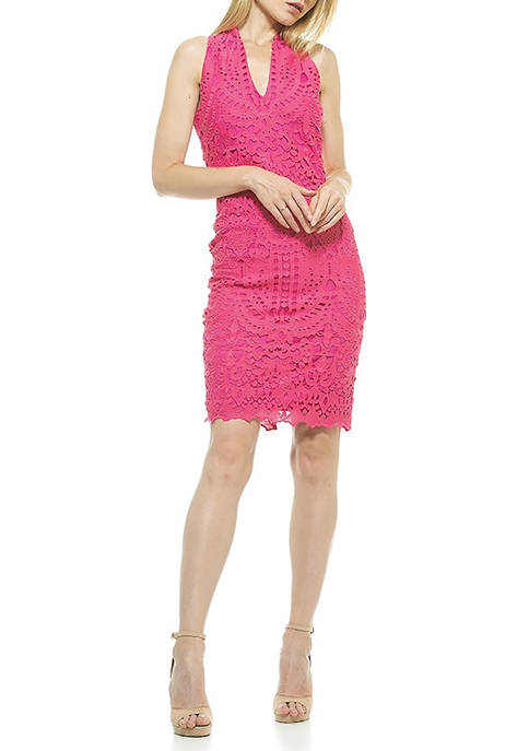 Alexia Admor Womens Karyn Lace Dress