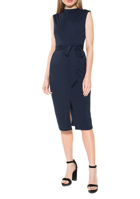 Alexia Admor Womens Fara High Neck Dress