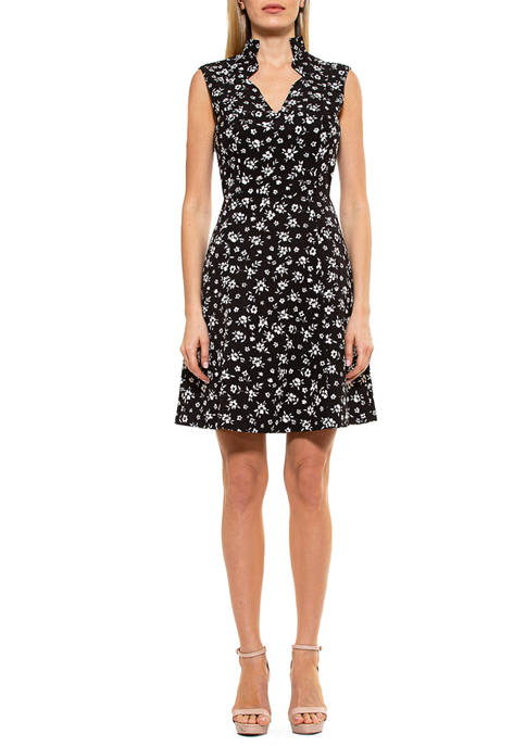 Alexia Admor Womens Emma Fit and Flare Dress