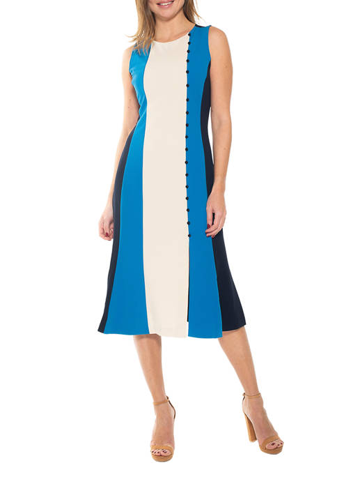 Alexia Admor Womens Anna Color Block Dress