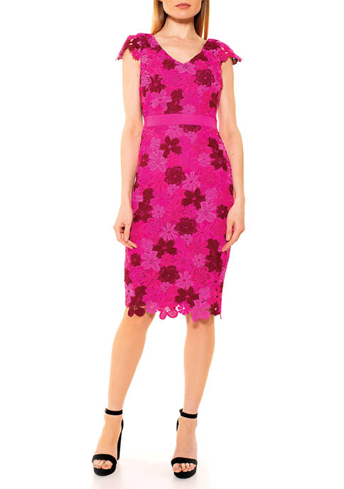 Alexia Admor Womens Emersyn Chunky Lace Dress