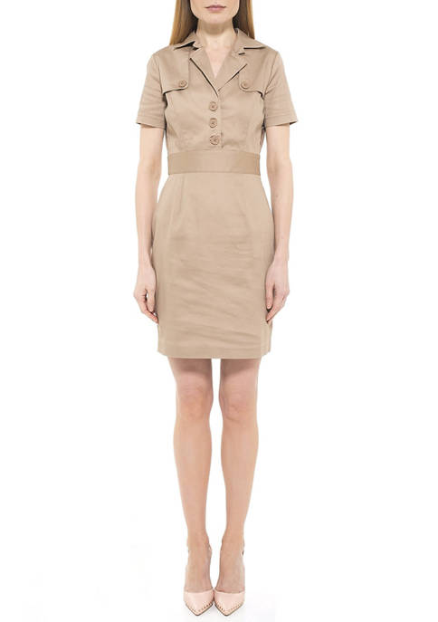 Alexia Admor Womens Skylar Trench Dress