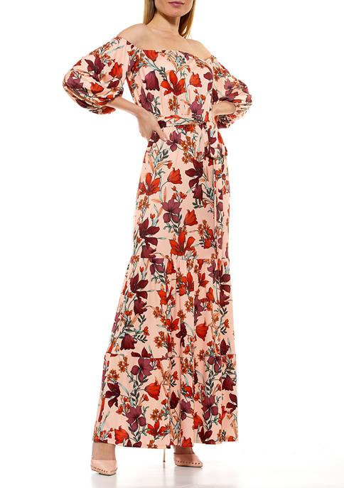 Alexia Admor Womens Off the Shoulder Maxi Dress
