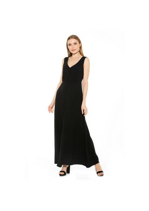 Alexia Admor Milana V-Neck Maxi Dress