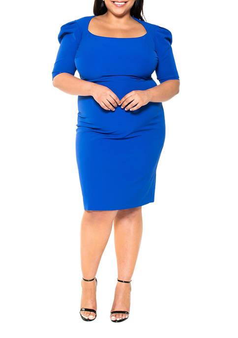 Alexia Admor Plus Size Portrait Neck Sheath Dress