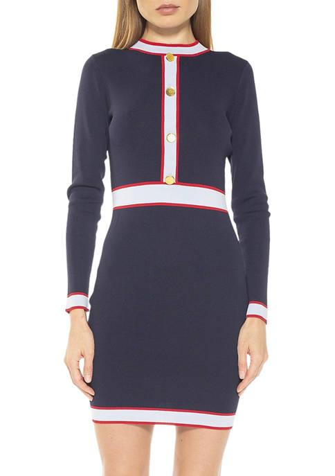 Alexia Admor Womens Betty Knit Dress