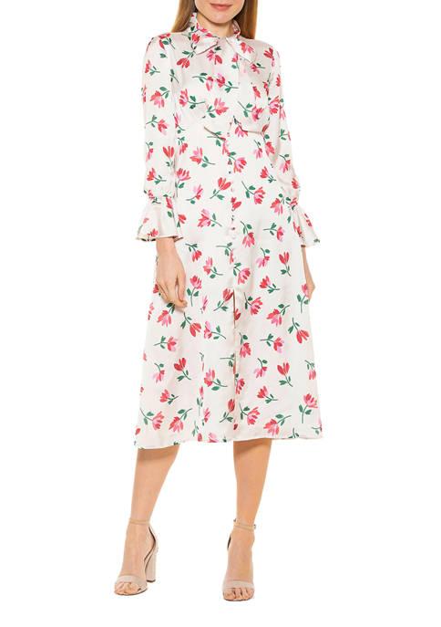 Alexia Admor Womens Gemma Button Down Dress