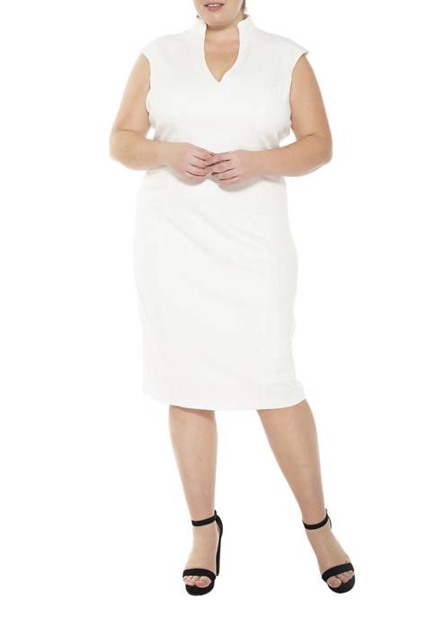 Alexia Admor Plus Size Katrina V-Neck Dress