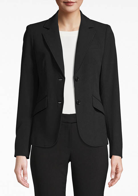 Anne Klein Womens Two Button Blazer