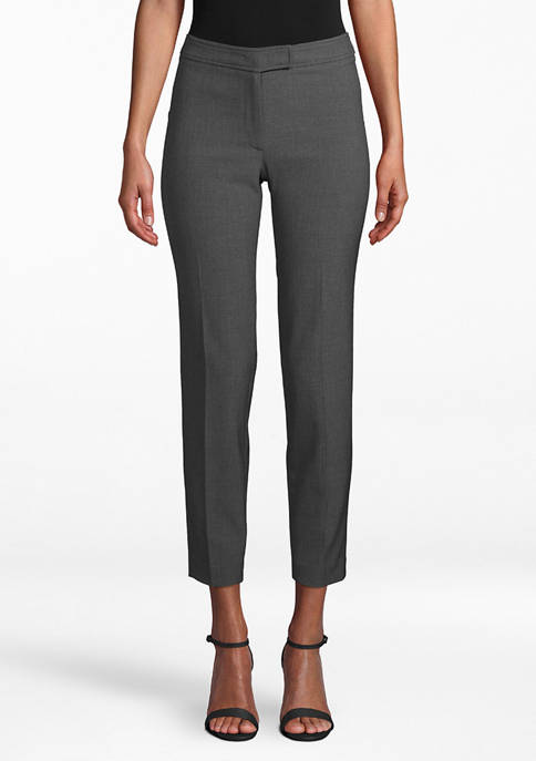 Anne Klein Womens Slim Leg Pants