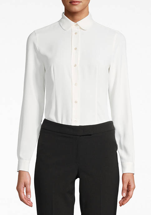 Womens Button Down Collared Blouse