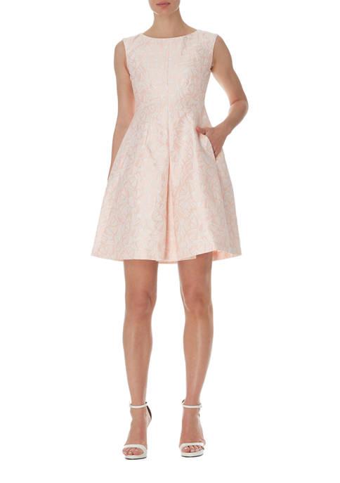 Anne Klein Womens Fit & Flare Dress