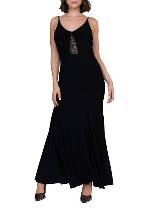 Jump Womens Jersey V-Neck Gown