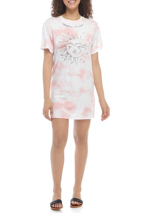 Cold Crush Juniors Short Sleeve Celestial Graphic T-Shirt