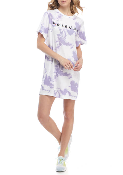 Juniors Short Sleeve Graphic Dress