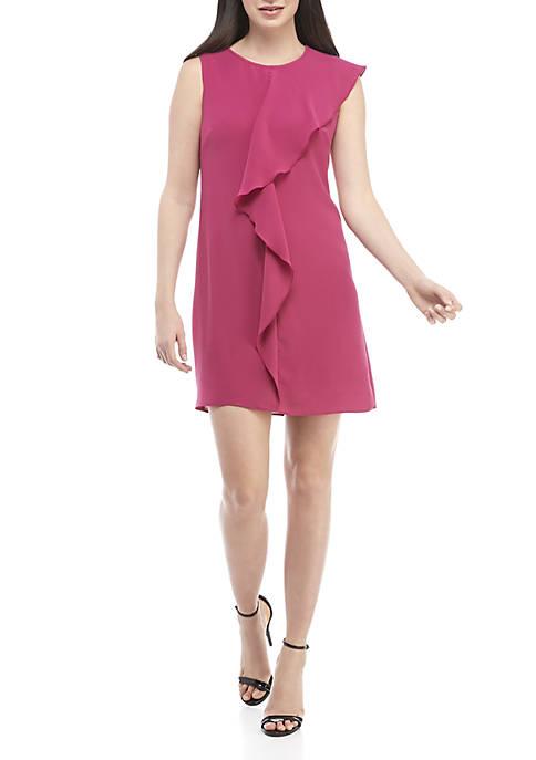 Adrianna Papell Gauzy Cascading Drop Dress