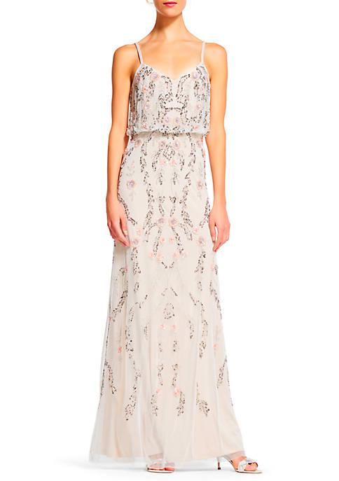 Floral Bead Bouson Gown