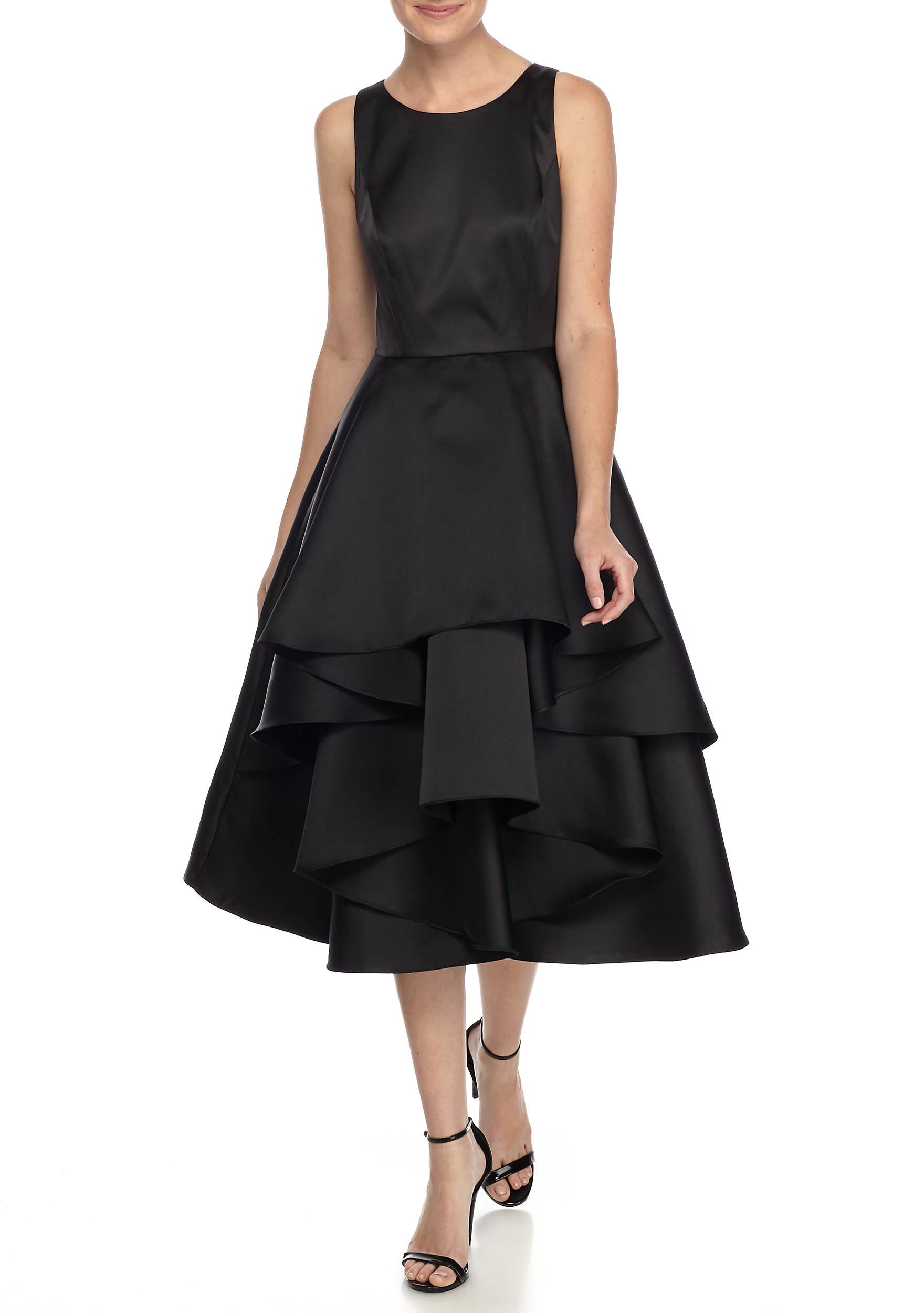 Adrianna Papell T-Length Ruffle Skirt Cocktail Dress   belk