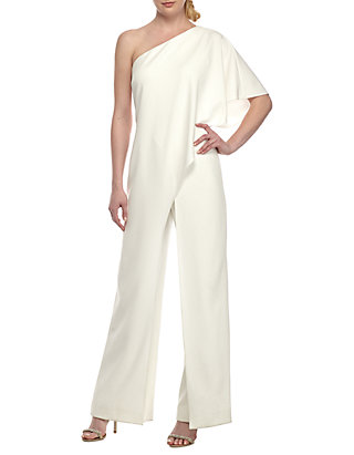 6dc193056b0c54 Adrianna Papell. Adrianna Papell One Shoulder Jumpsuit