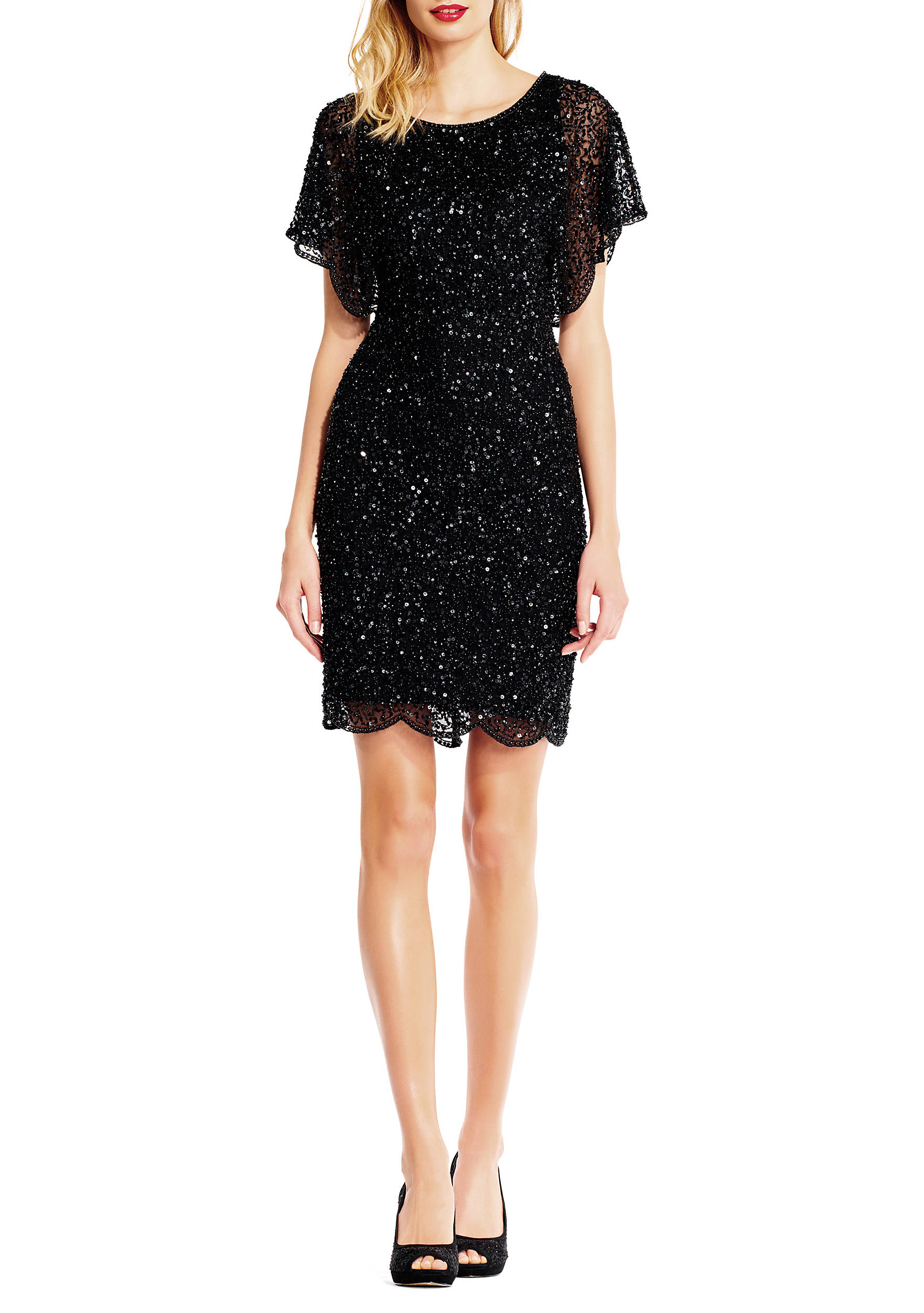 Adrianna papell sparkle dolman dress belk images ombrellifo Choice Image