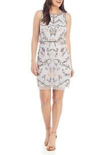 Adrianna Papell Sleeveless Beaded Short Dress
