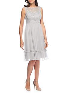 Short Flutter Sleeve and Hem Dress