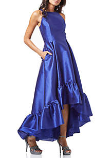 High Low Hem Faille Gown