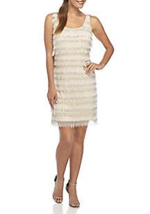 Sleeveless Fringe Short Dress