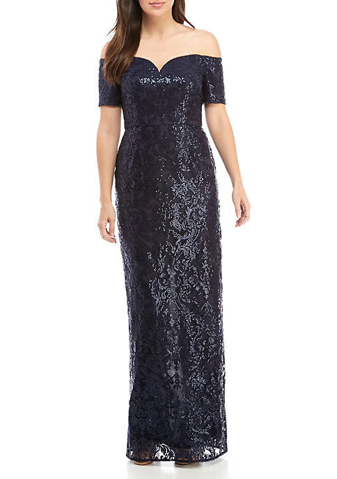 Long Lace Jacket Dress. Related Items. Adrianna Papell Long Sequin Gown 3529627f7