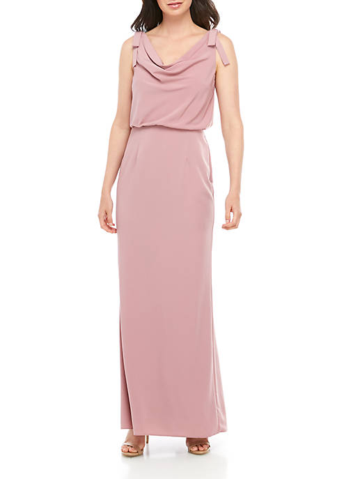 Adrianna Papell Sleeveless Long Cowl Neck Gown