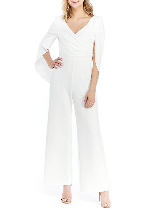 Adrianna Papell Solid Ponte Jumpsuit