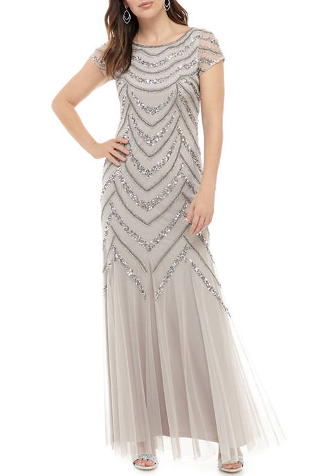 Womens Chevron Bead Gown