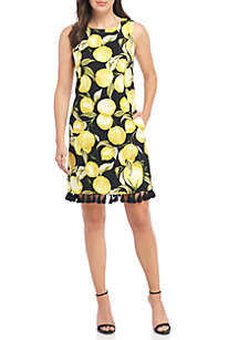 Sleeveless Lemon Shift Dress