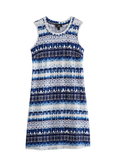 AGB Womens Tie Dye Stripe A-Line Dress