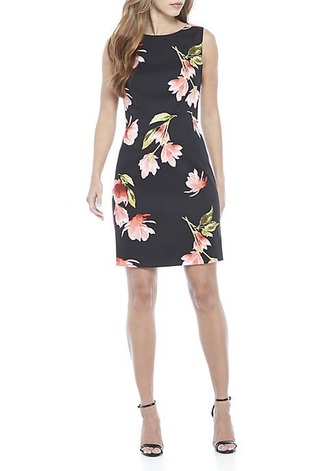 AGB Sleeveless Floral Sheath Dress