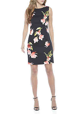 b62efc92f10 AGB Sleeveless Floral Sheath Dress ...